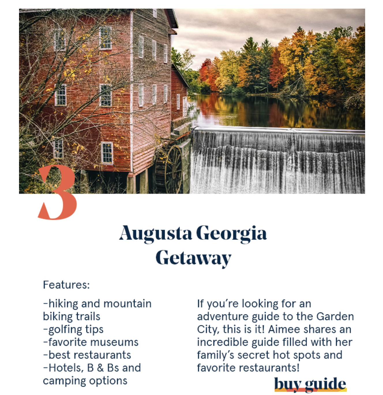 Quick getaway to Augusta