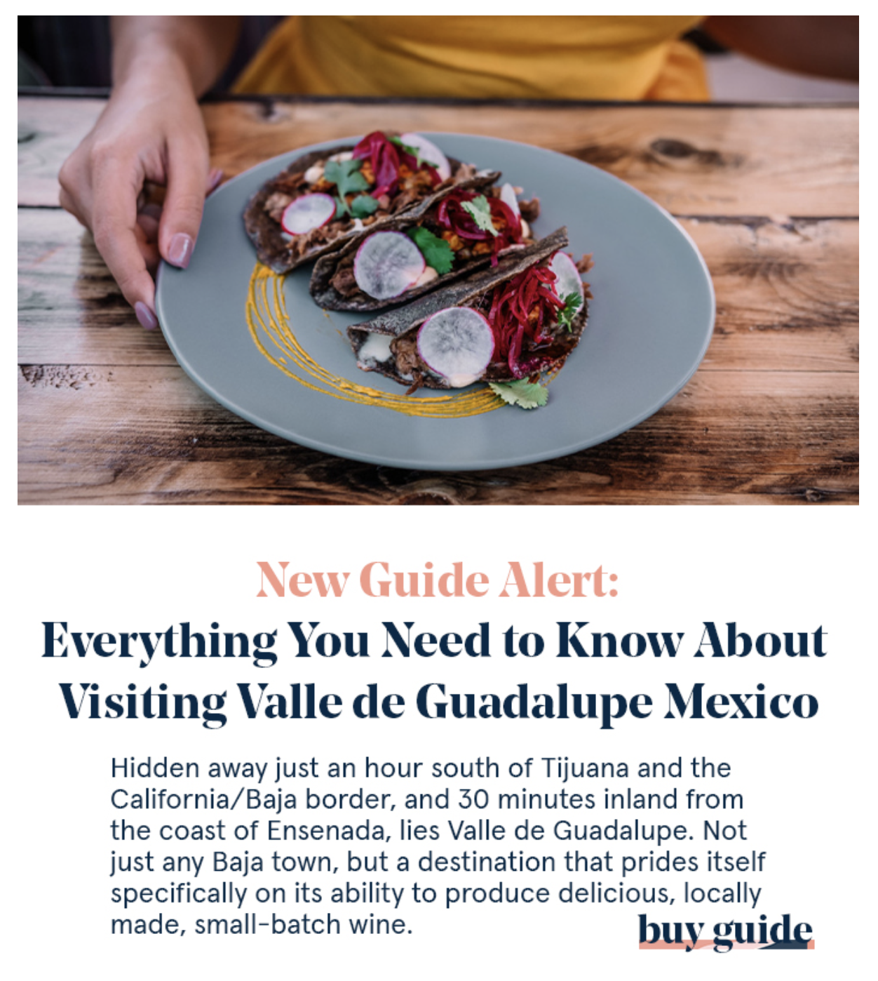 Valle de Guadalupe Travel Guide