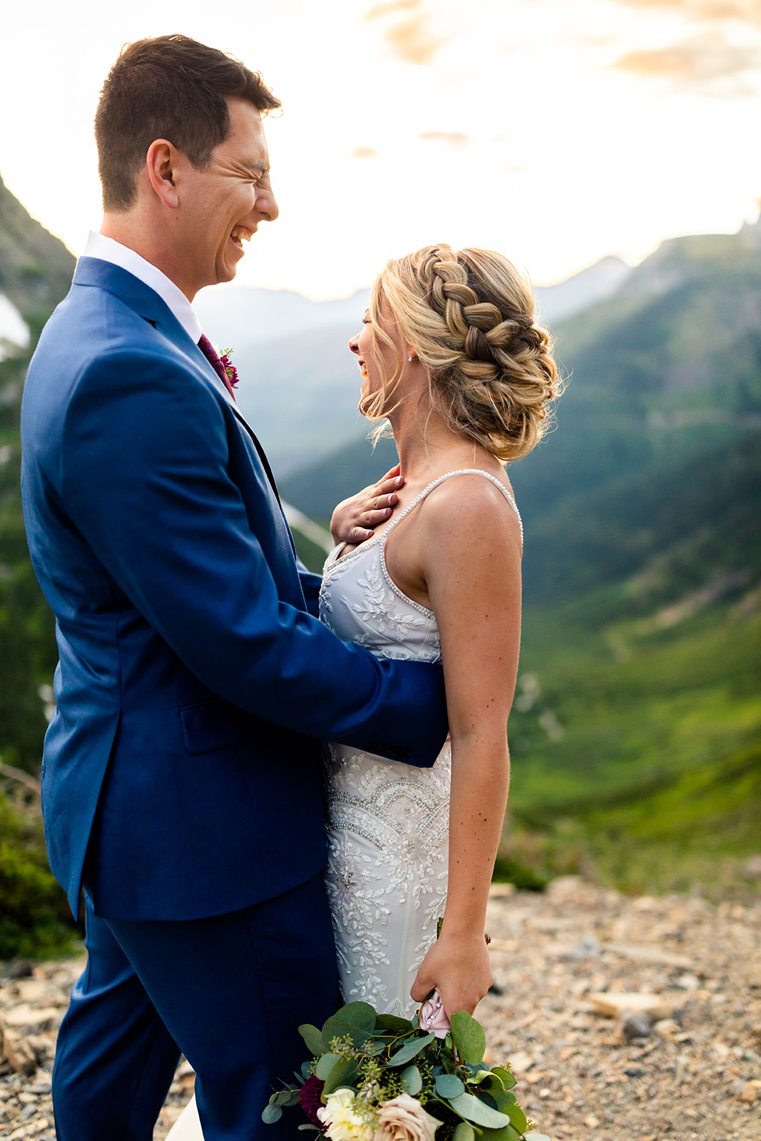Highline Trail Wedding Photo